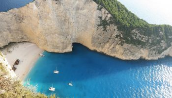 Zakynthos Greece Shipwreck Beach